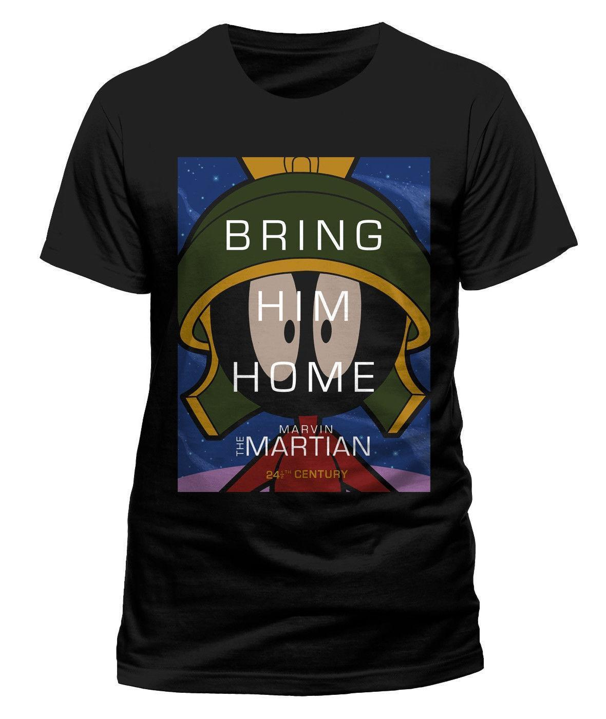 4f207196beb7 Looney Tunes Marvin The Martian  Bring Him Home  T Shirt NEW   OFFICIAL! Urban  T Shirts Irish T Shirts From Baisheng05