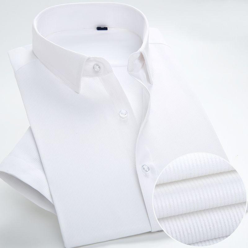 2019 2018 New Design White Stripe Short Sleeve Summer Men Dress