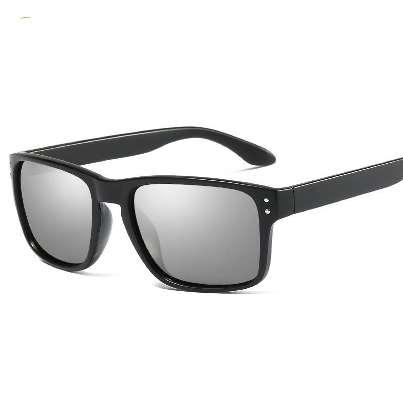 e3395434dbb49 Polarized Sunglasses Men New Designer Black Square Sun Glasses ...