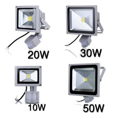Led Flood Light Search Projector Lamp 10w 20w 30w 50w Ac85-265v Pir Motion Sensor Sense Detective Sensor Lamp Ip65 Waterproof Floodlights