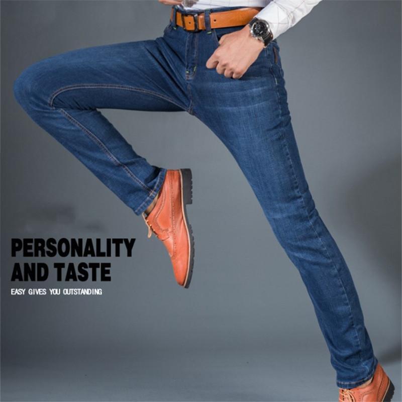 e315c91e400 Compre Pantalones Vaqueros De Los Hombres Estiramiento Delgado Denim Jeans  Casual Verano Otoño Alta Calidad Pantalon Tejano Pitillo Hombre Más Tamaño  28 ...