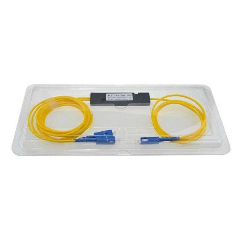 5 PCS SC UPC MINI PLC 1X2 Single mode LC fiber optic splitter 1x2 SC UPC  plc splitter/ Fiber splitter Free Shipping