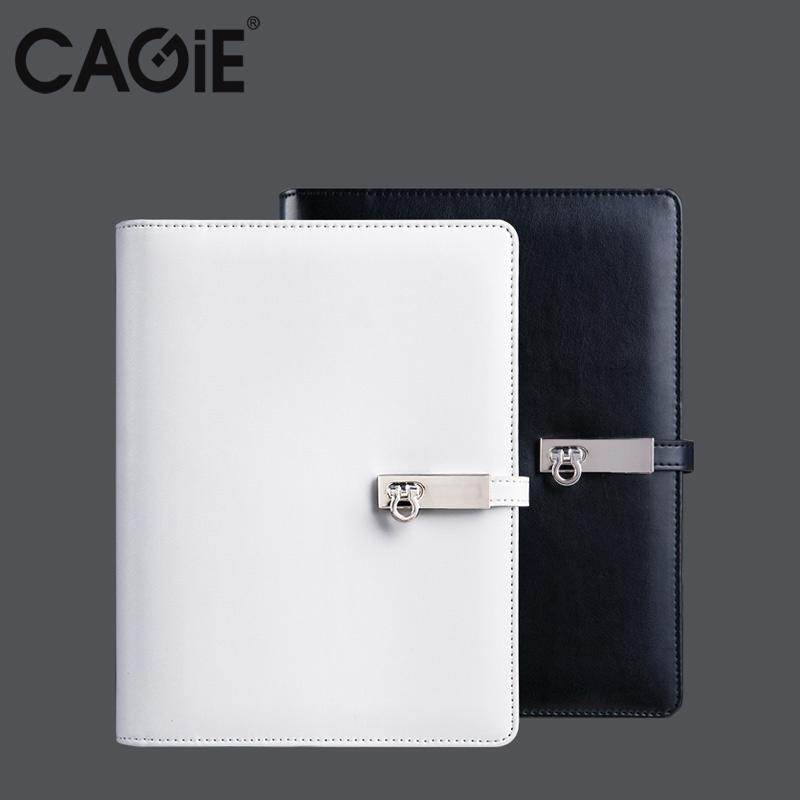 CAGIE 2017 Spiral Black/White Notebook A5/A6 Travelers Diary Planner Organizer Agenda Office/School Filofax Birthday Gift