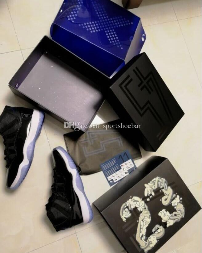 various colors 0eb9a 4a7a1 Space Jam 11 Wholesale Win Like 96 ice blue Midnight Navy Blue Gym Red 11s  With Box Basketball shoes Free Shipping