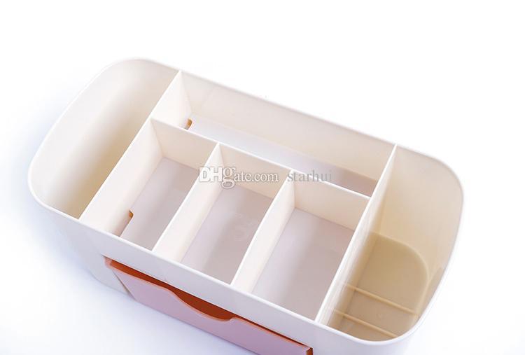 Nova Multi-função Caixas De Armazenamento De Gaveta-tipo de Economia de Espaço Caixa De Armazenamento De Cosméticos De Plástico Escritório Em Casa Desktop De Armazenamento Bin WX9-258