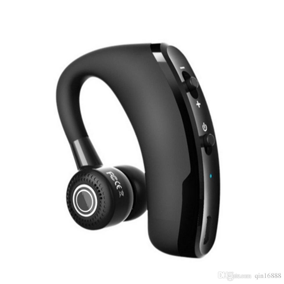 8a7d277ffa1 Bluetooth Earphone V9 Sport Earphone True Wireless Single Business Earbud  Voice Control Call Driver Headset Rotate With Mic