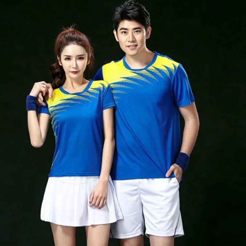 ff493ce98785 2019 New 2018 Men Women Couple Tennis Shirts Badminton Shirt