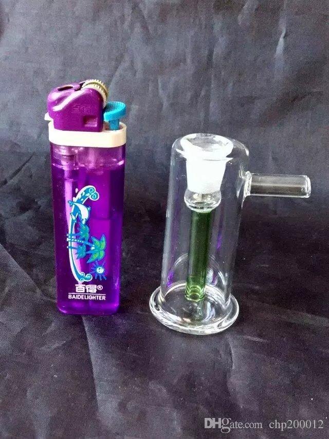 Classic stripes Mini glass water bottle, glass bongs accessories