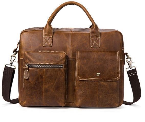 ba4c3ea52c New Men S Handbag Cross Section Briefcase Business Laptop Bag Retro Shoulder  Messenger Bag Mens Leather Briefcase Laptop Briefcase From Roseyy