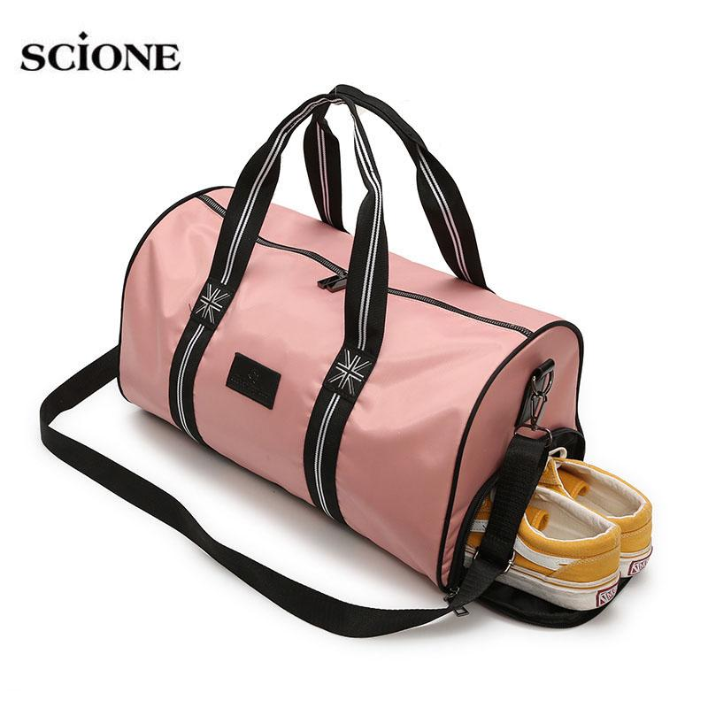 4666c74d03ea 2019 2018 Travel Bags Yoga Gym Bag For Fitness Shoes Handbags Women Men  Gymtas Training Sac De Sport Outdoor Shoulder Pink XA673WA From Ekuanfeng