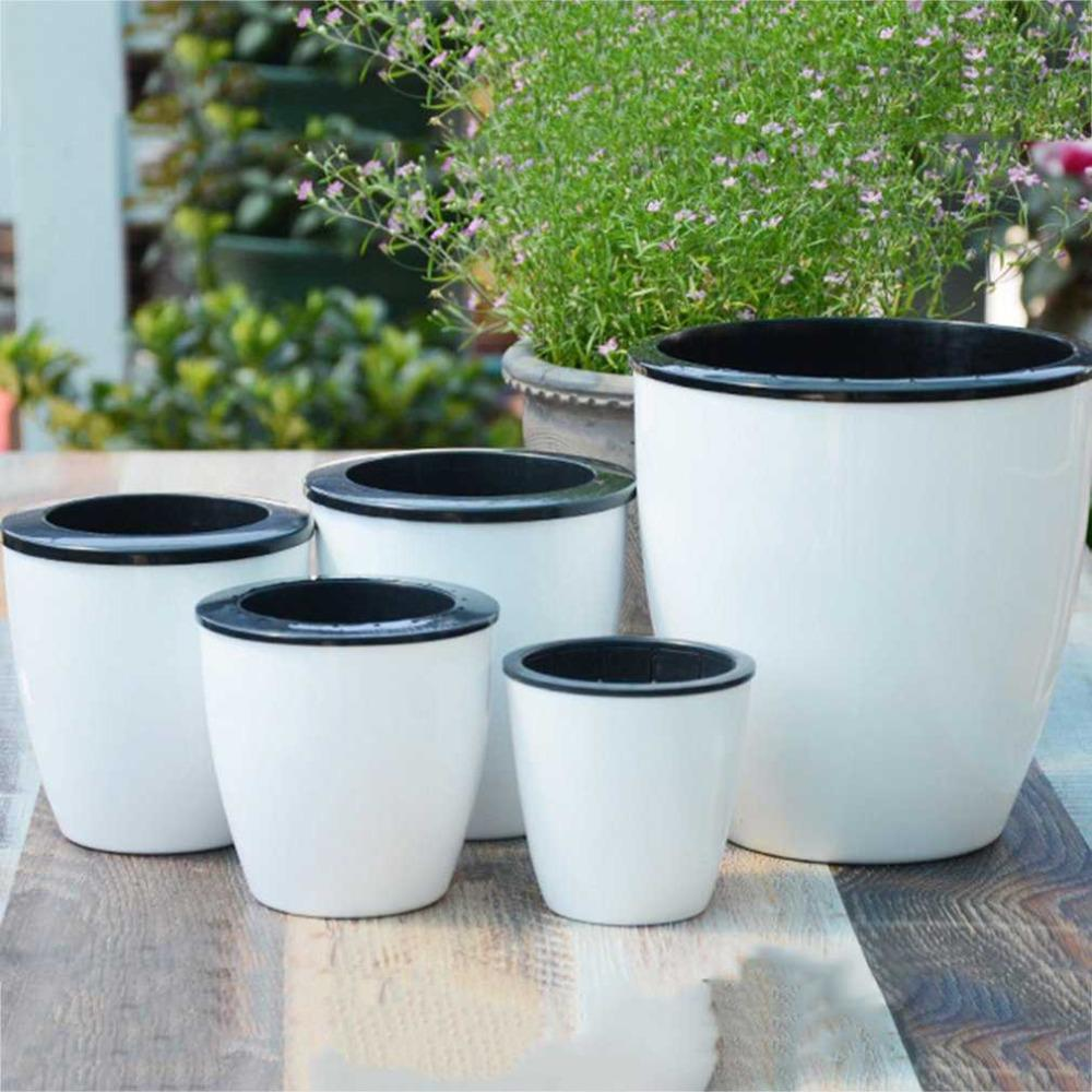 Fashioable Automatic Self Watering Flower Plants Pot Put In Floor Irrigation For Garden Indoor Home Decoration Gardening free shipping
