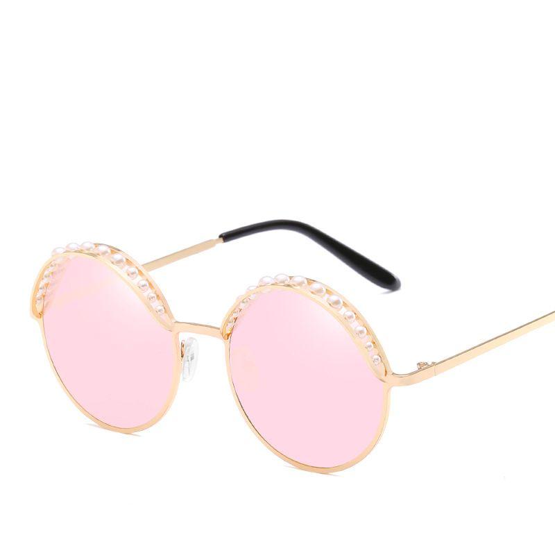 b71f61d1062 Pearl Sunglasses Round Metal Replicas Brand Designer Club Master ...