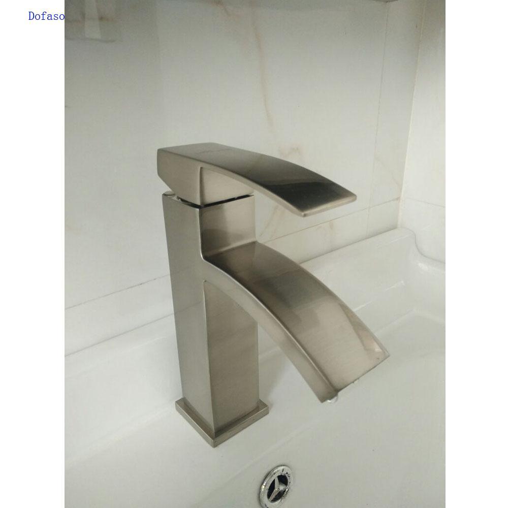 Dofaso China Basin Faucets Single Handle Basin Hot and Cold Mixer Bathroom Tap Sink Chrome Finish bathroom bath faucet
