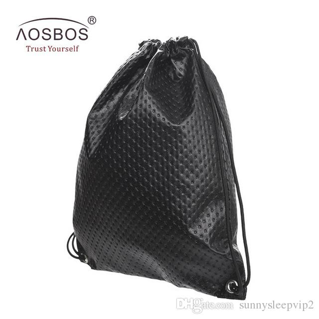 3d93dff2299a Aosbos PU Leather Drawstring Bag For Shoes Men Women Sport Gym Bag Outdoor Drawstring  Backpack For Fitness Shoes Swimming Bags Cheap Backpacks Rolling ...