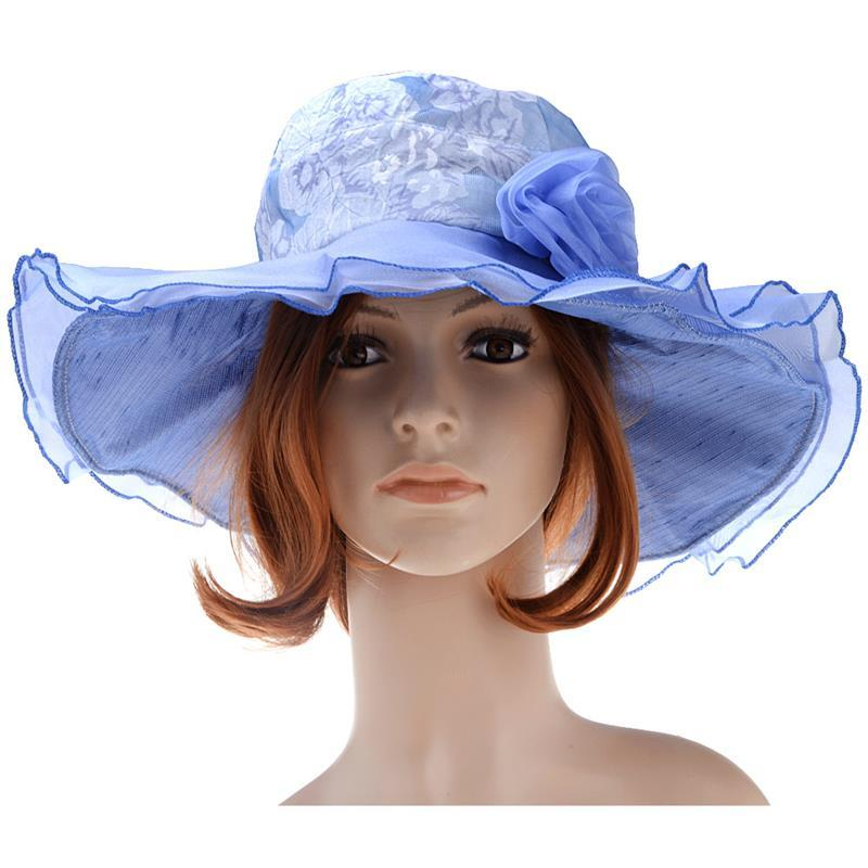 VBIGER Women Summer Sun Hat Sunproof Large Brim Fashionable Beach Cap Hat  With Lace Flowers Mens Caps Crazy Hats From Hermane 8b0382b33a9