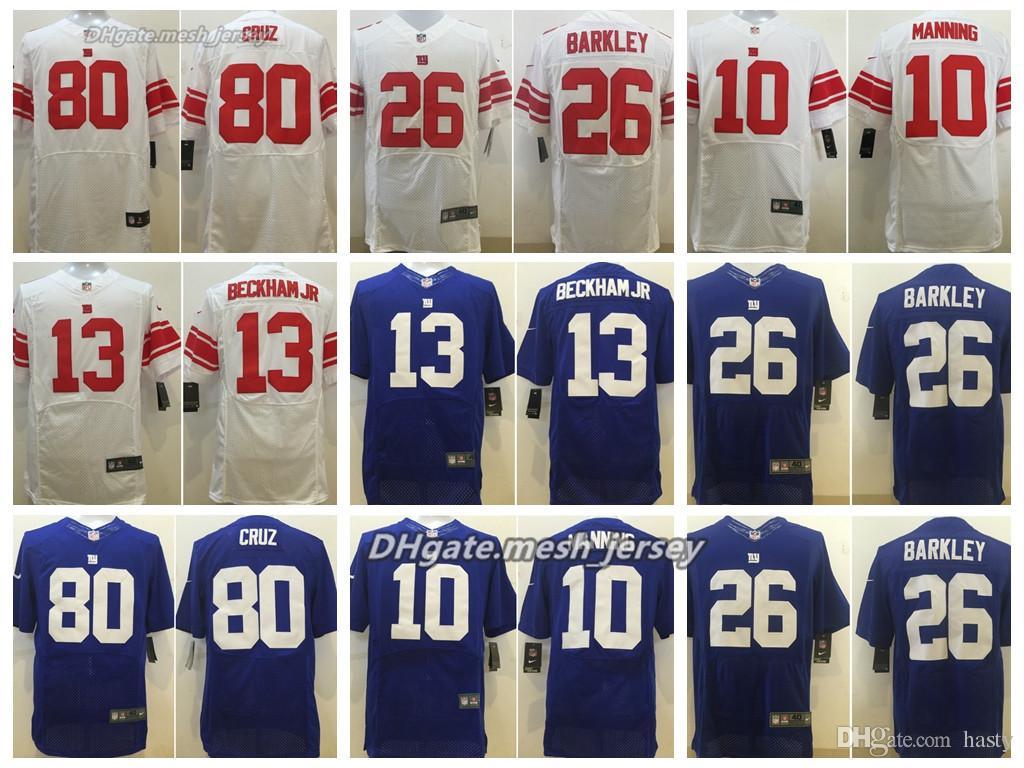 timeless design 2974a f2e6c Men New York Jersey Giants 13 Odell Beckham Jr 10 Saquon Barkley 26 Saquon  Barkley 80 Victor Cruz Stitching Elite Jerseys