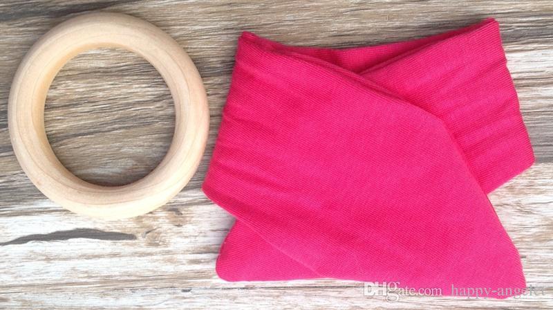 طفل الرضيع INS حلقات التسنين التسنين الدائري الخشب الطبيعي دائرة بلون أرنب الأذن الأسنان القطن ممارسة اللعب اليدوية الدائري YE013