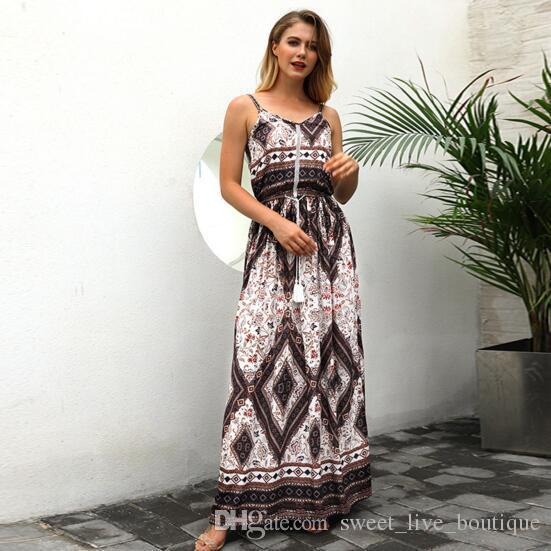 834e289edb62 50 Fashion Bohemian Summer Sexy Deep V Neck Long Maxi Dress Floral ...