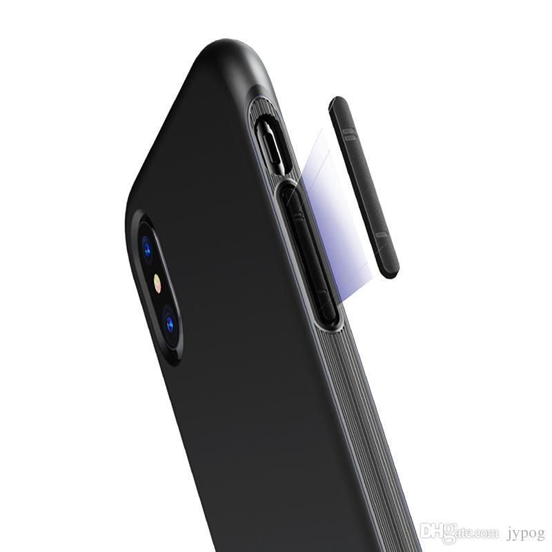 Baseus For iPhone X Case 2in1 Defender Bumper Case High Impact Hard Rugged Rubber Shockproof Hybrid Hard PC Soft Case for iPhone X