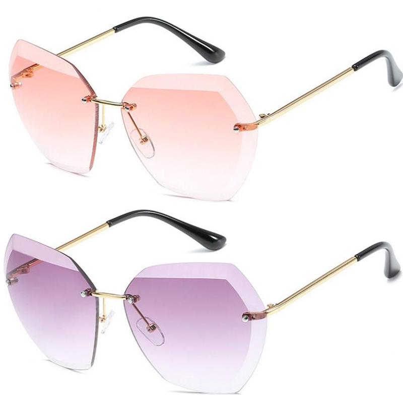 7b2ab01bee4 Wholesale 2018 New Fashion Women S Sunglasses Cut Out Sunglasses Ladies  Frameless Metal Sun Glasses Luxury Sunglasses For Electric Sunglasses  Fastrack ...