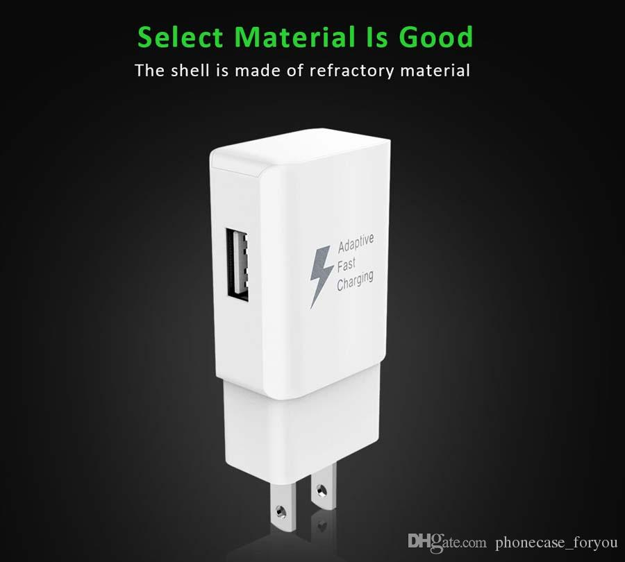 Fast Wall Charger 5V 2A 9V 1.67A Adaptive Fast Charging Travel Wall Charger Plug +1.5m usb cable For Samsung s7 S8 Plus Note8