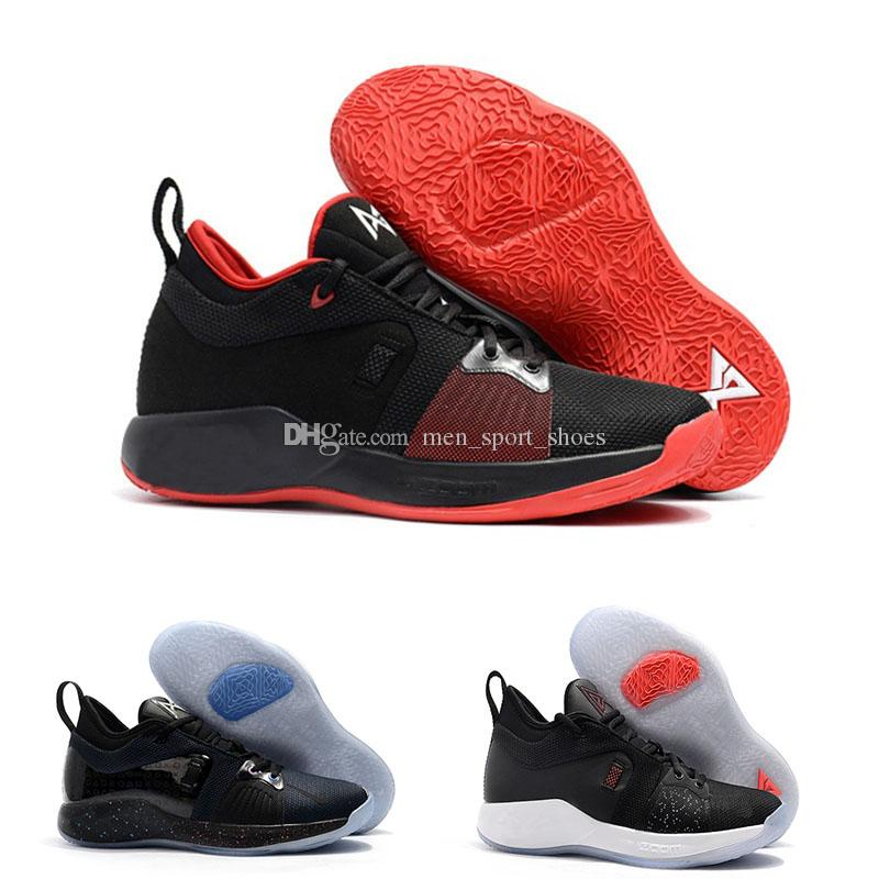 2019 2018 Male Basketball Shoes New High Quality Paul George PG 2 NCAA  PlayStation Taurus Black Black Red Sneakers Wholesale From Men sport shoes 8e8e9ee29b9