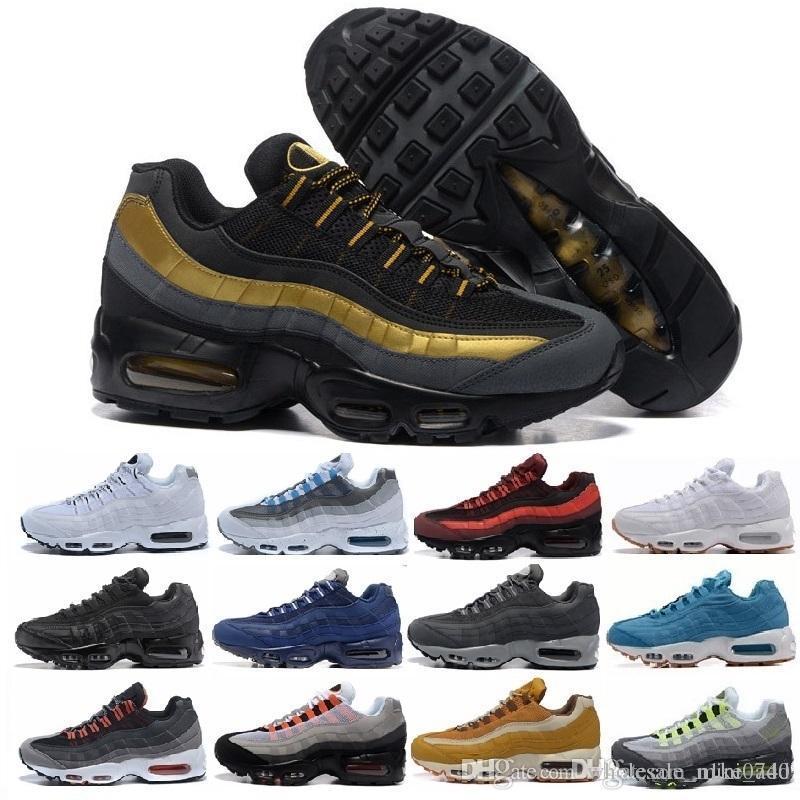 superior quality a69a2 ee849 Compre Hombre 95 OG Cushion Navy Sport Chaussure 95s De Alta Calidad Botas  Para Caminar Hombres Zapatos Casuales Cojín 95 Sneakers Air Size 36 45 A   47.08 ...