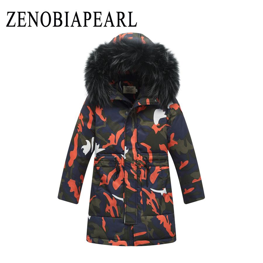 4171229fb131 Winter New Boys Thickening Kids Down Jackets Children Long Section Fur  Hooded Warm Coats Boy Letters Korean Version Jacket Boys Sport Coats Coats  For ...