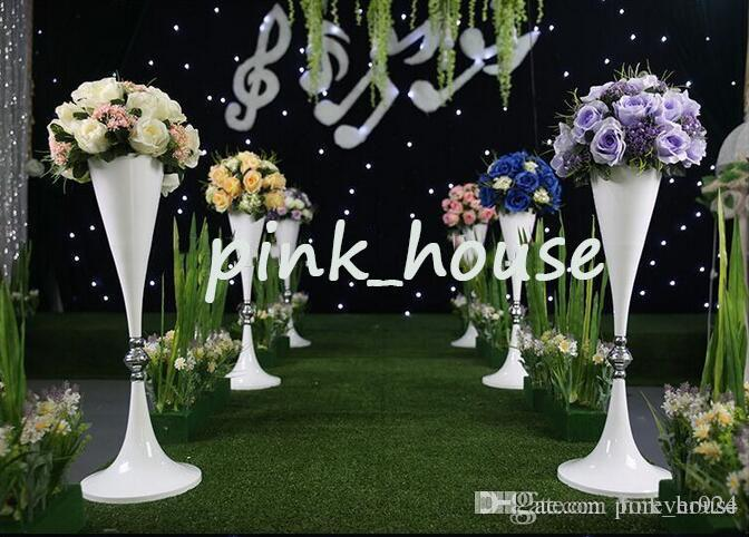 Elegant Metal White Color Tall Wedding Pillar Flower StandFlower Vase Centerpieces For Wedding Table And Aisle Decoration Fortune Cookie Wedding Favors ... & Elegant Metal White Color Tall Wedding Pillar Flower StandFlower ...