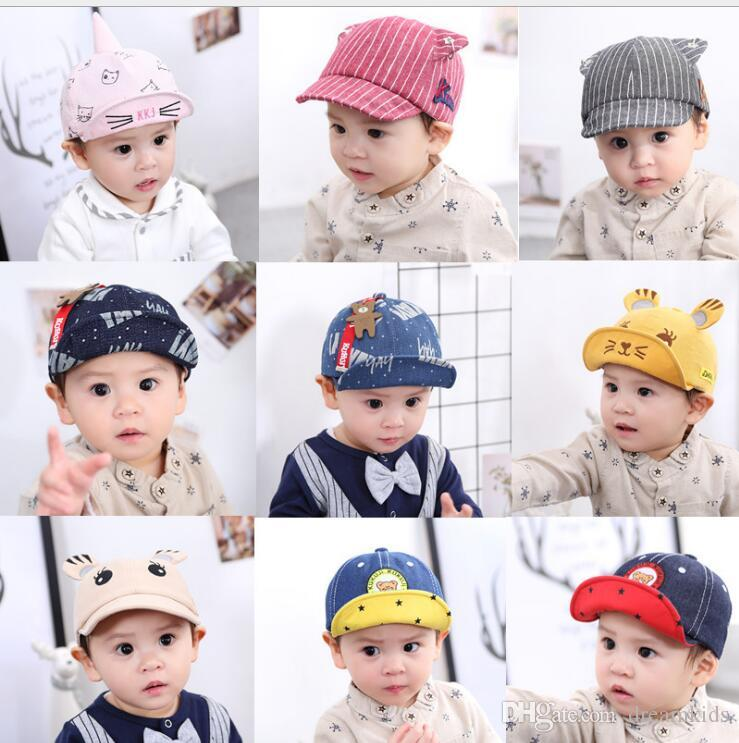 57c0d0b26e5 2019 Cute Summer Newborn Baby Hat GirlS BoyS Baseball Cap Infant Cotton  Unisex Toddlers Sun Hats From Dreamkids