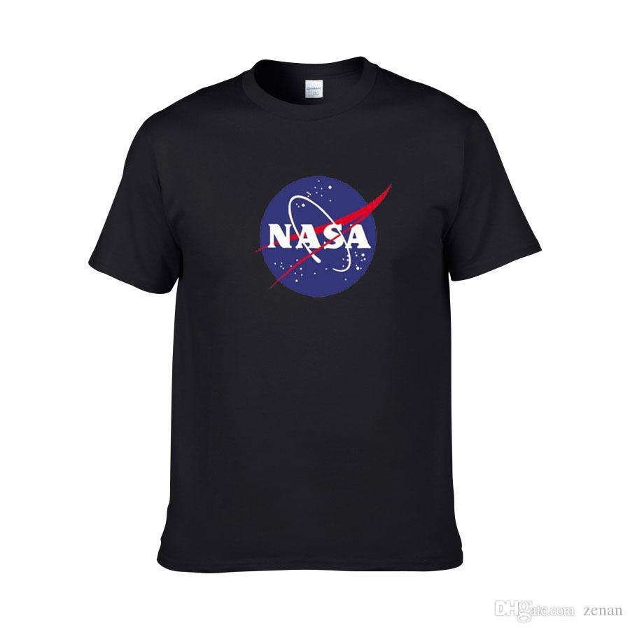 WISHCART NASA логотип печати футболка мужская новый летний с коротким рукавом хлопок мужчины футболка Марка дизайнер повседневная фитнес одежда топы тройники