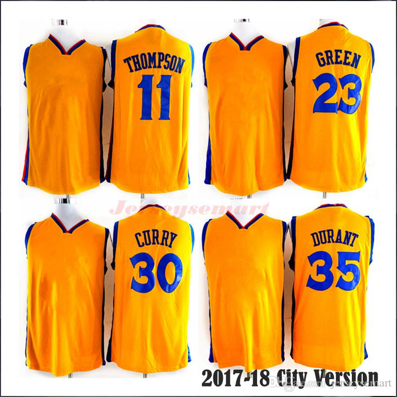 reputable site bd880 df8ce reduced klay thompson yellow jersey 32164 93551