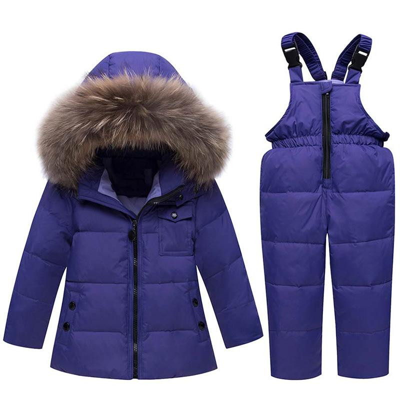 32c4b551fd65 ZTOV Winter Suits for Boys Girls 2018 Boys Ski Suit Children ...