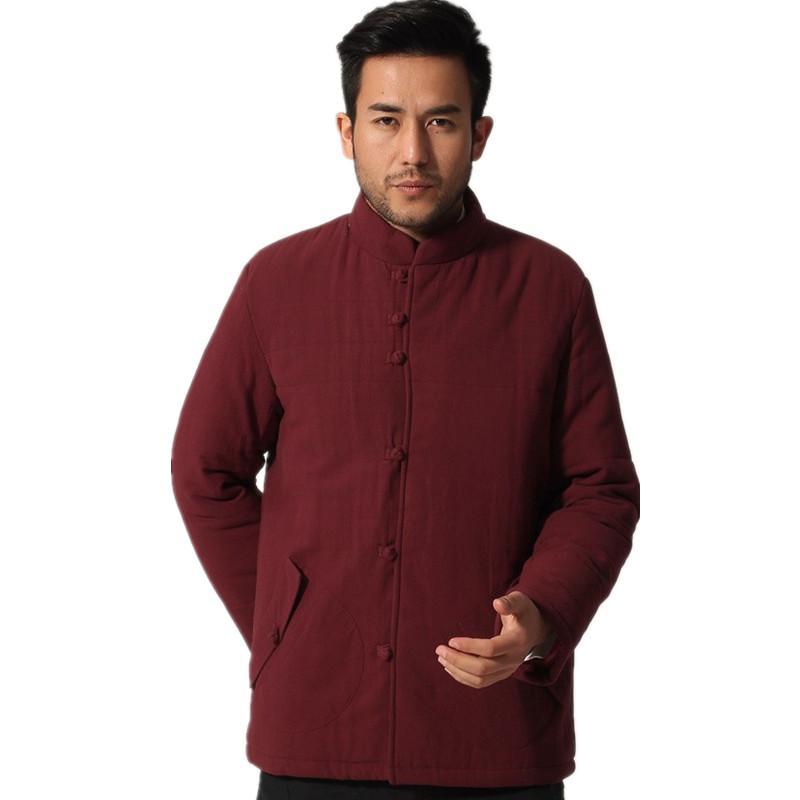 ebe78ebfa41b Satın Al YENI Çin Tarzı Erkekler Kış Pamuk Yastıklı Ceket Çin Tarzı Kung Fu  Coat Pamuk Keten Kalınlaşmak Sıcak Palto M L XL XXL XXXL