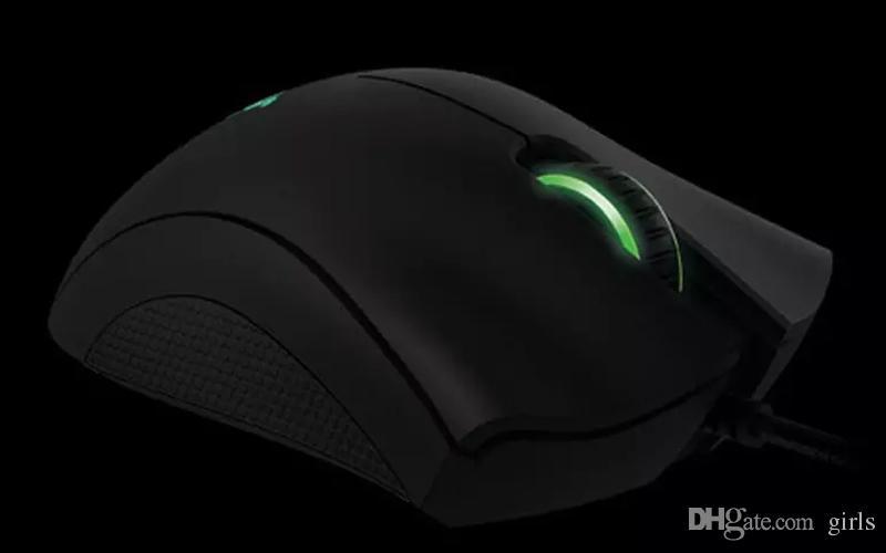 الماسح DeathAdder كروما لعبة الفأر USB السلكية 5 أزرار الاستشعار البصرية ماوس الماسح الألعاب الفئران مع حزمة البيع بالتجزئة