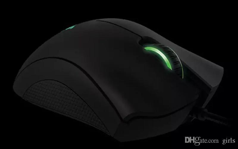 Razer DeathAdder Mouse Juego Chroma-USB con cable de 5 botones del sensor óptico del ratón Razer Gaming ratones con paquete al por menor