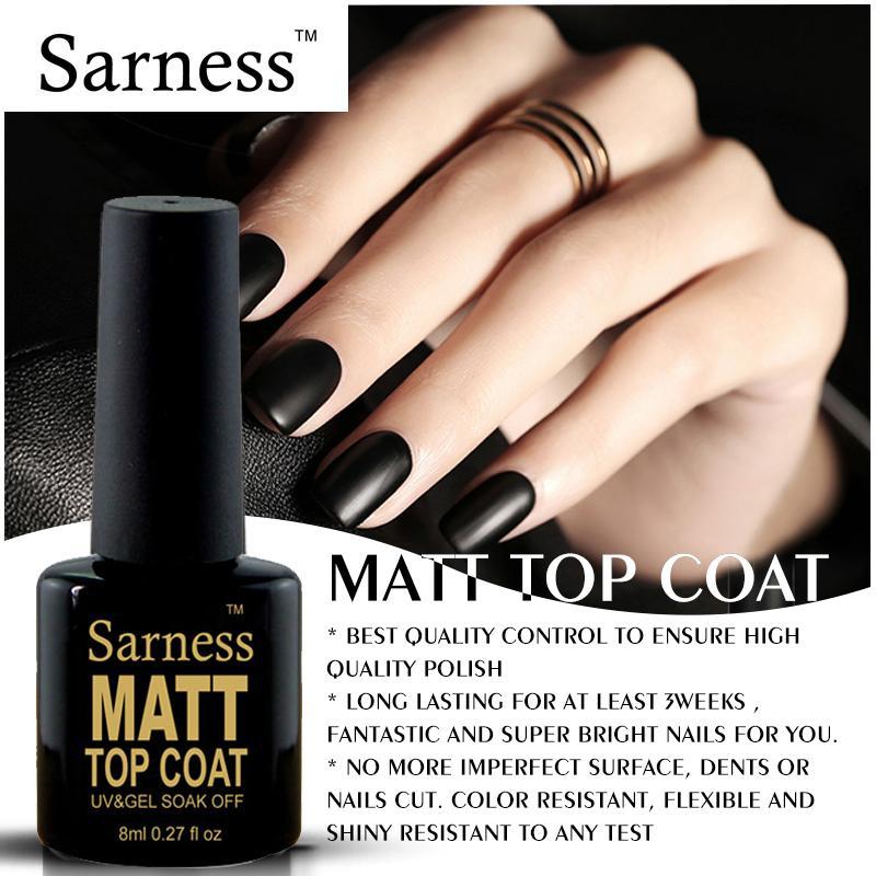 Sarness Semi Permanent Enamel Matte Nail Art Top Coat Set ...