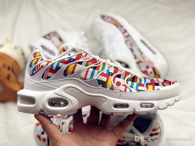 e42952263581d 2018 New Kylian Mbappe Plus TN White Black Mens Women Running Shoes ...