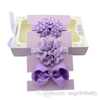 Polka Dot Bows Headband Lace Flower Headband Waves Bow Knot Elasticity Headband Girls Hair Accessory LH620