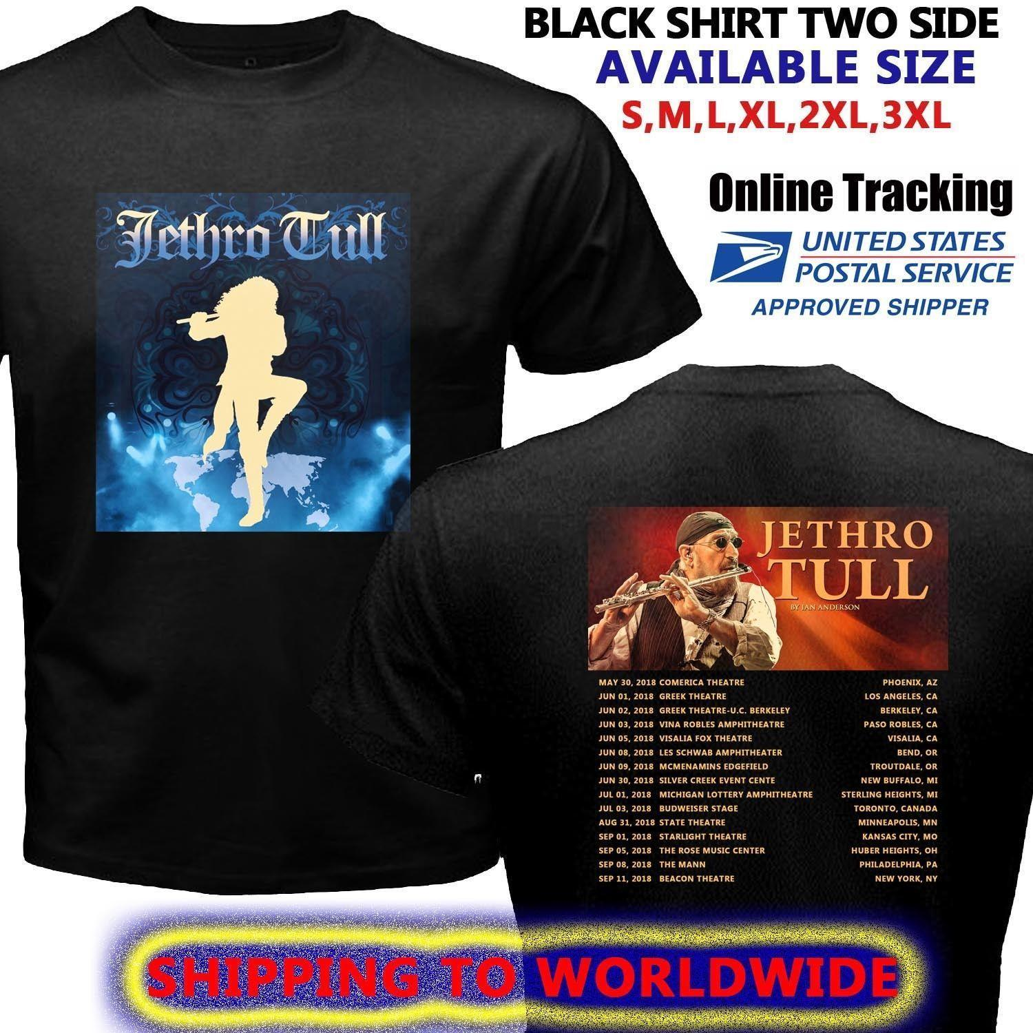 Jethro Tull Best Tour Dates 2018 Black Tee T Shirt Size S To 5xl