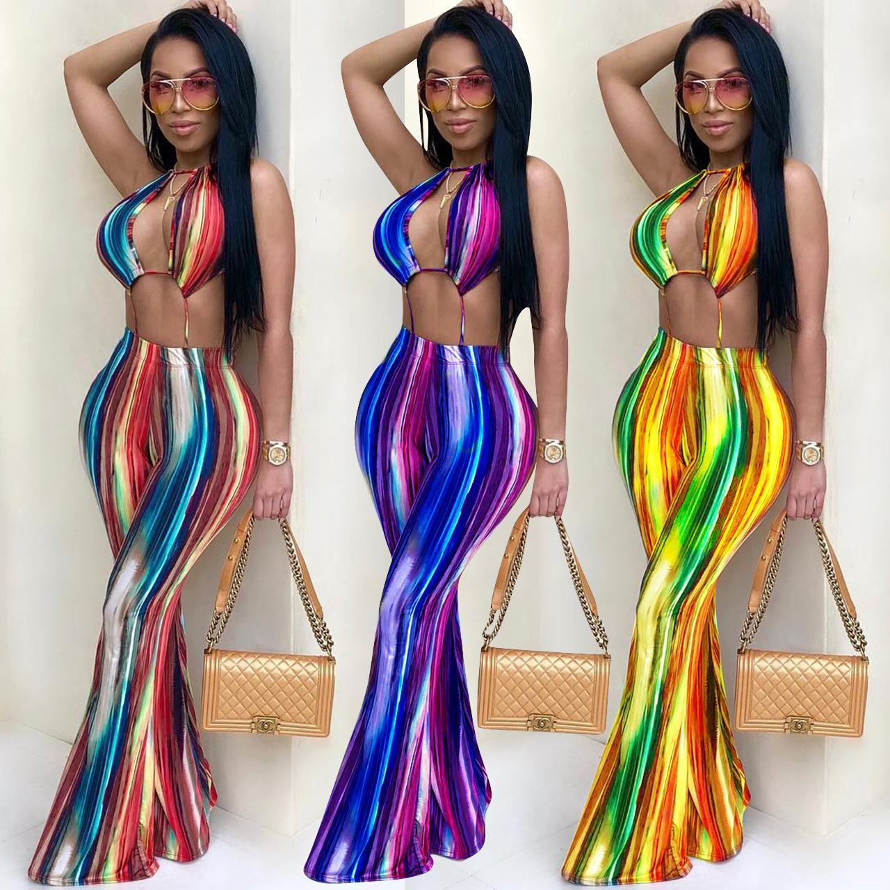 c4464de805b New Arrive Sexy Club Women Jumpsuit 2018 Summer Rainbow Printed Playsuits  Sexy Backless Sleeveless Romper Jumpsuit Jumpsuit Womens Jumpsuit for Woman  Online ...