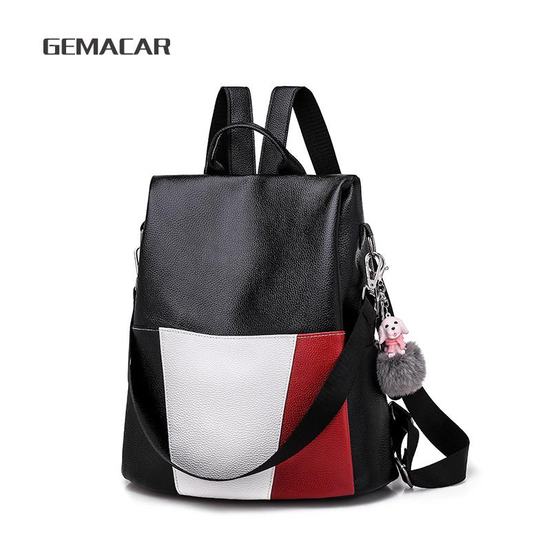 6a9da6116b6b 2018 New Women Backpack Purse Pu Leather Fashion Best Work Bag Large  Capacity Ladies Rucksack Shoulder Waterproof Bag Swiss Backpack Laptop  Rucksack From ...