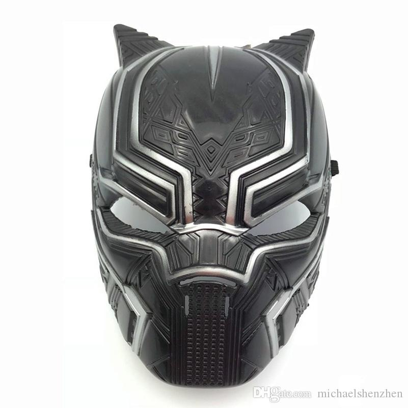 Captain America 3 Black Panther mask 2018 New Avengers Children's adult Halloween party Cosplay Plastic headgear Masks Toys B001