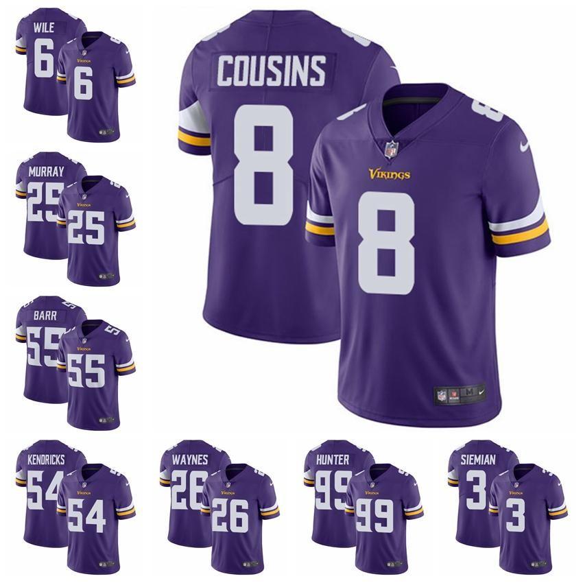 Minnesota Limited Home Football Jersey Vikings Purple Vapor Untouchable 8  Kirk Cousins 19 Adam Thielen 14 Stefon Diggs 21 Online with  35.02 Piece on  ... d84ef3223