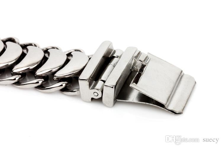 Moda Charms Erkekler Keel Zinciri Bilezikler Bilezik 316L Titanyum Paslanmaz Çelik Chic motorcu El Zinciri Bilek Bandı Takı Pulseras Hediye