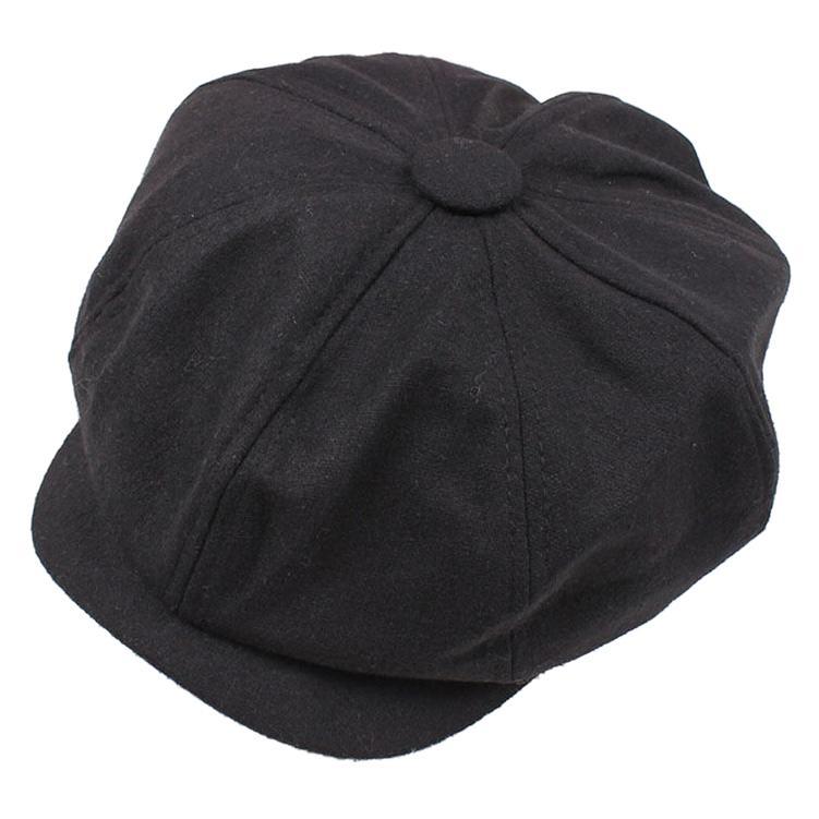 d90cea68957 2019 Newsboy Gatsby Cap Mens Ivy Hat Golf Driving Winter Cold Flat Plain  Black From Huazu