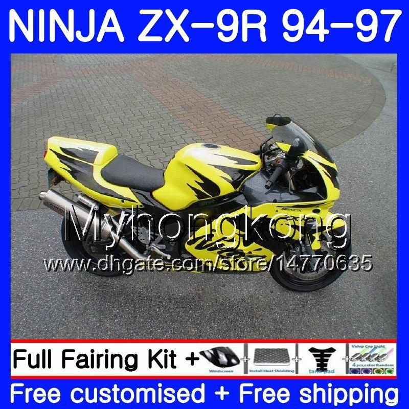 Yellow Black Frame Body For Kawasaki Ninja Zx900 Zx9r 94 95 96 97
