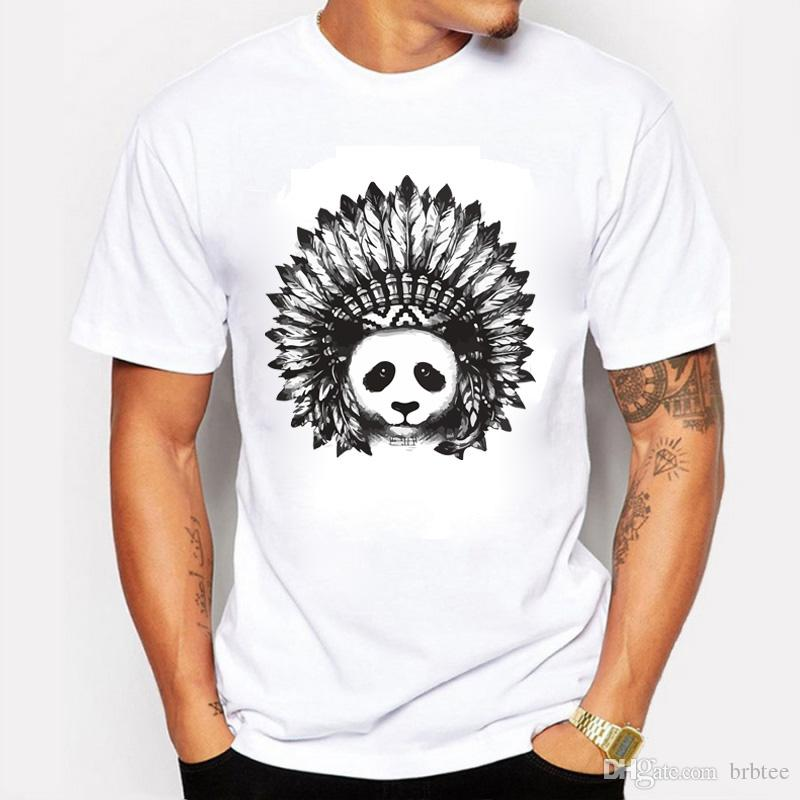 337edf93cec 2017 Fashion Casual Streetwear New Arrival Men S Fashion Indian Panda  Printed T Shirt Cool Tops Short Sleeve Tees Men Clothing Tees Cool T Shirts  From ...