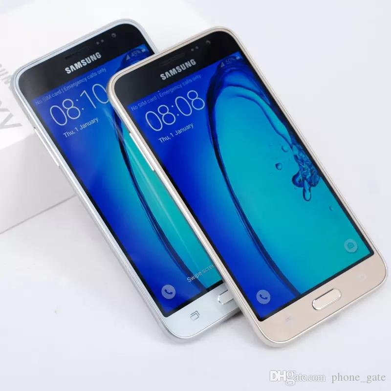 Yenilenmiş Unlocked Samsung J3 2016 J320F Cep Telefonları Quad Core 1.5G / 8G 5 Inç Tek sim 4G LTE WIFI GPS Bluetooth Smartphone
