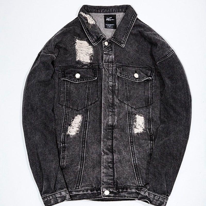6ed915d57ea Casual Slim Men Cowboy Jacket 2018 Cotton Black Long Sleeve Autumn Plus  Size Streetwear Coat Jackets For Men Windbreaker Clothes Coats And Jackets  Mens Coat ...